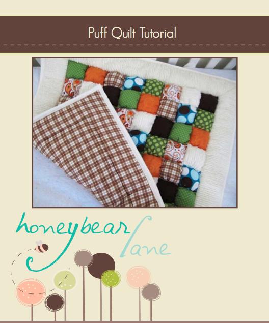Image of Puff Quilt Tutorial: PDF Printable Version