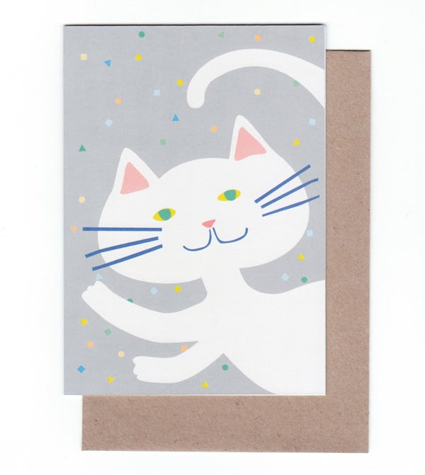 Image of Party Cat Greeting Card
