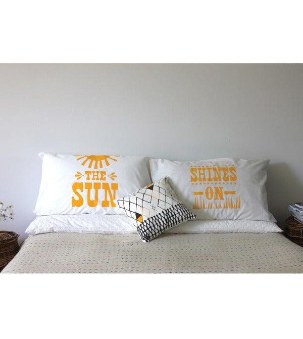 Image of Sun Shines Pillow Case Set