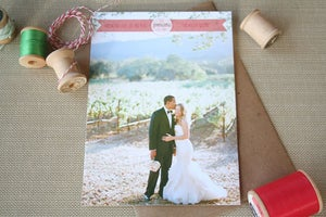 Image of Holiday Photo Card: Family Banner