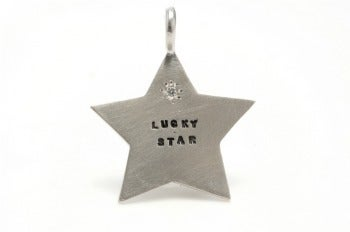 Image of Silver Lucky Star with a diamond charm