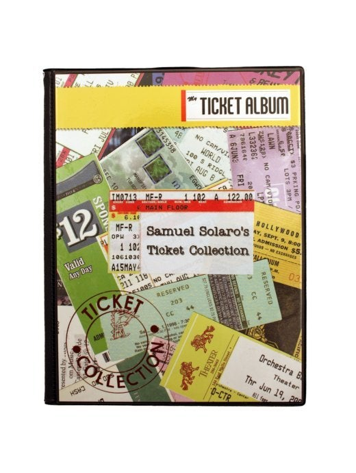 Image of Custom Cover Ticket Album