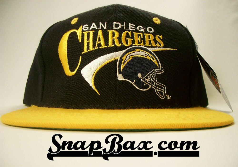 Image of VINTAGE SAN DIEGO CHARGERS SWOOSH SNAPBACK CAP