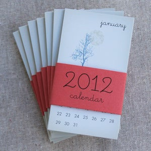 Image of 2012 Mini Calendars - Gift Set of Eight