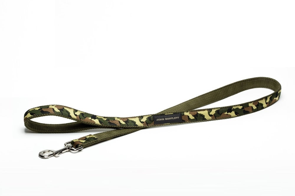 Image of olive tiny tim camou dog leash