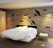 Image of War Planes Battle Planes - 011- Vinyl sticker wall decal children adults playroom