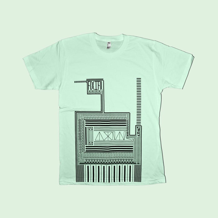 Image of A X(10) Is Always Limiting - Retro Pattern Tee (lime)