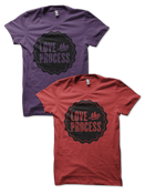 Image of LOVE the PROCESS shirt - Eggplant or Red