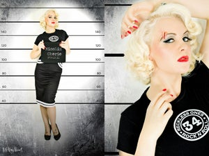 Image of Ladies Rock'n'roll T-shirt (also available in blue)