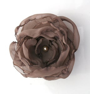 Image of Fabric Flower in Latte