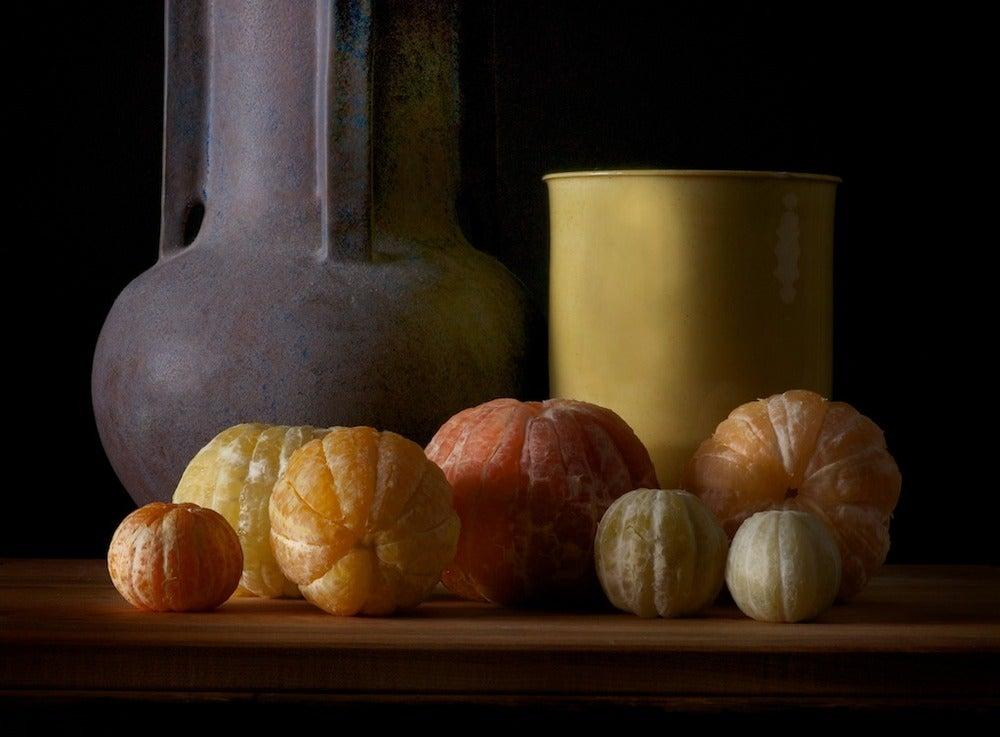 Image of Peeled lemon, grapefruit, Pink grapefruits, tangerine, orange, lime