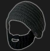 Image of Beard Hat (Dark Grey- Black Beard)