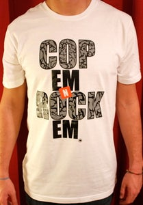 Image of CopEmNRockEm Men's Signature Tee (Cement)