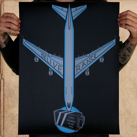 Image of Survivor 18x24 silkscreened POSTER - BLUE limited to 37