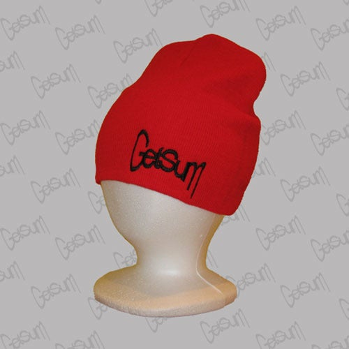 Image of Red Beanie w/Black