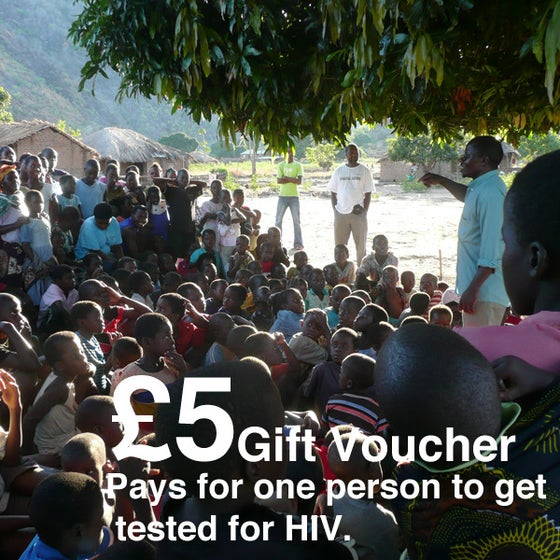 Image of £5 Give-a-Gift Card & Voucher: Pays For One Person to Get Tested For HIV