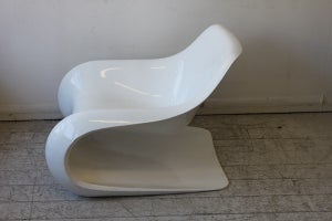 Image of vintage 70's fibre glass chair