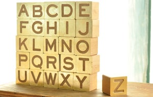 Image of gilded alphabet set