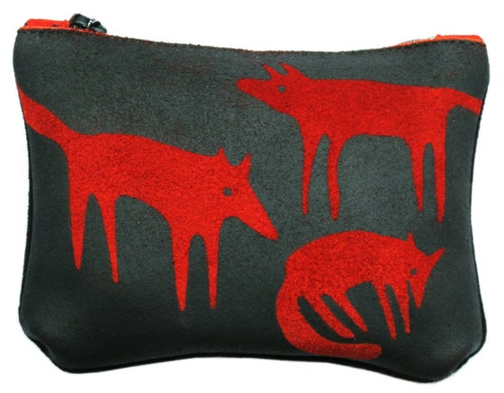 Image of Suede Red Fox Purse Small