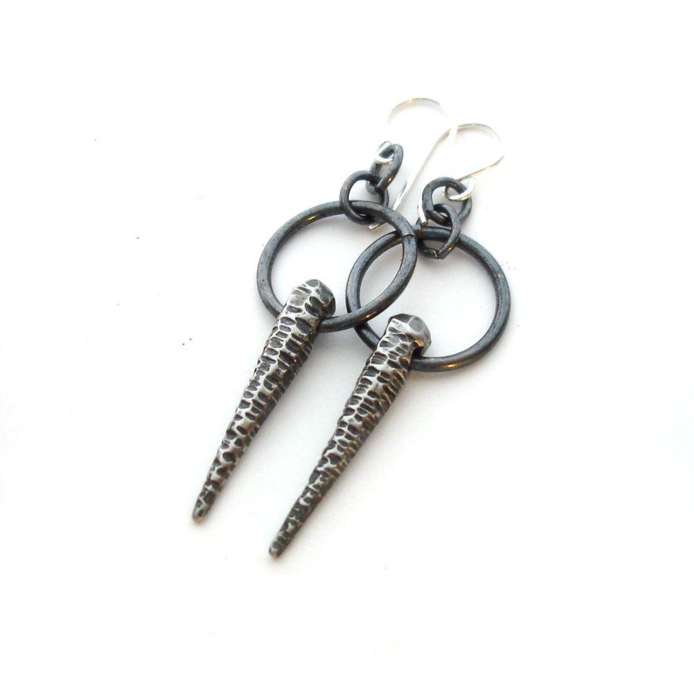 Image of Stainless Steel Spike Earrings