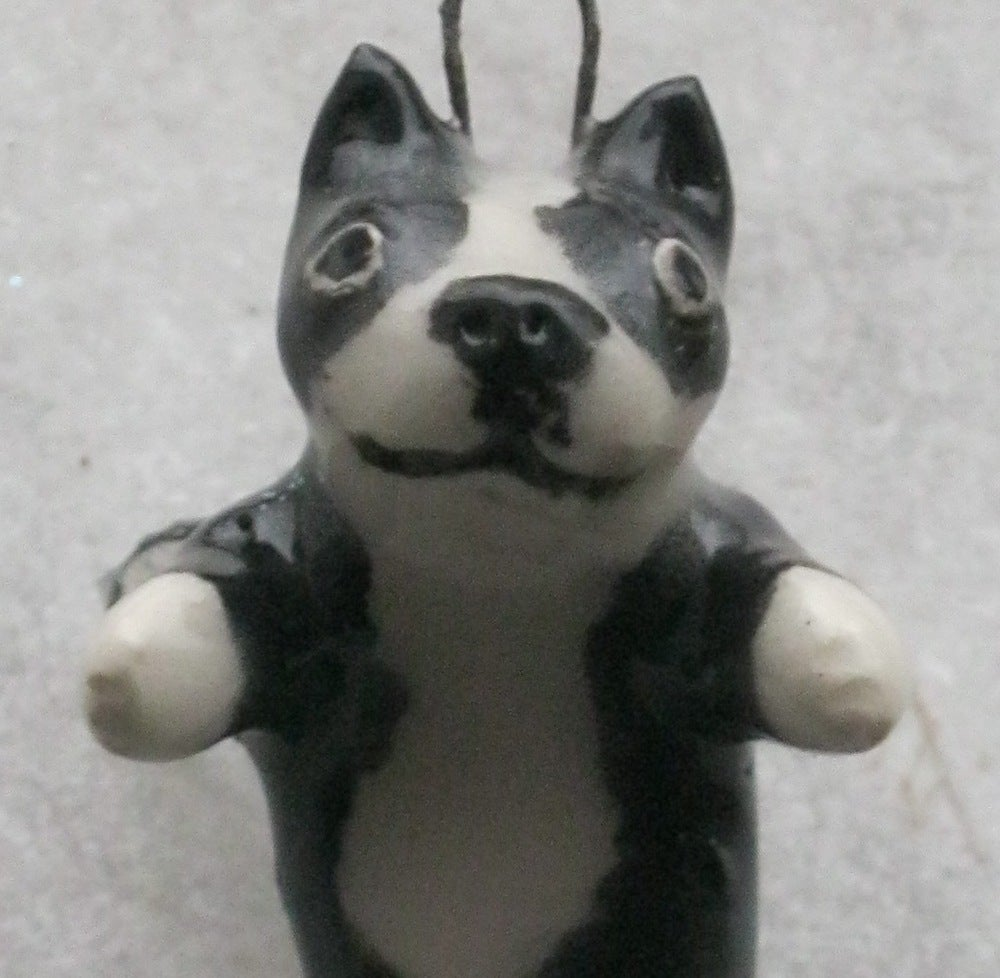 Image of Boston Terrier Angel Ornament