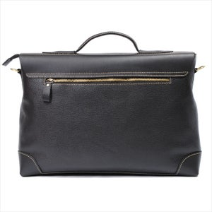 "Image of Handmade Genuine Leather Briefcase Messenger 14"" Laptop / 15"" MacBook Bag in Black (n44)"