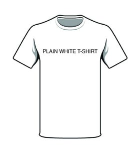Image of T-Shirts -plain white T Shirt