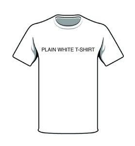Image of T-Shirts -plain white T Shirt