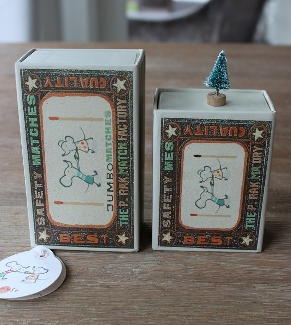 Image of Mouse Little Sister In A Matchbox