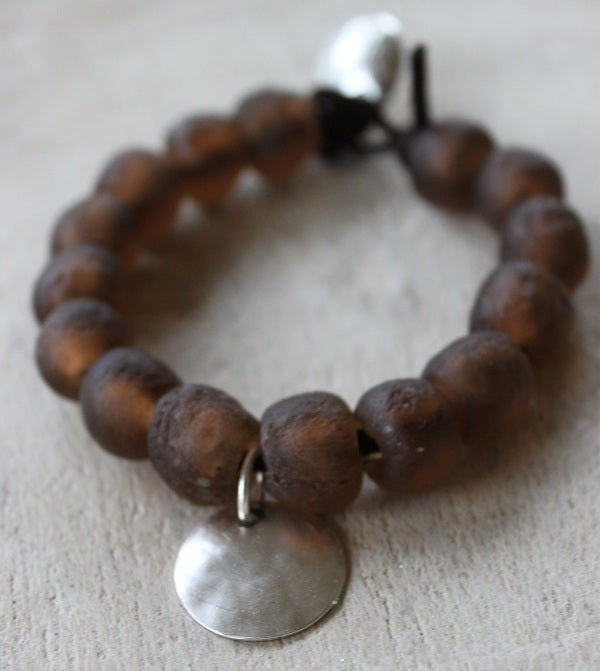 Image of Chunky Bead Bracelet, Brown