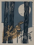 Image of Golden Hare Woodcut Print