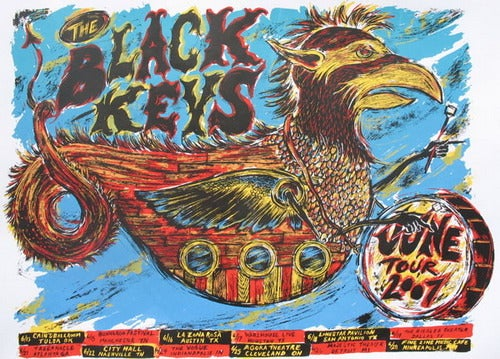 Image of The Black Keys 2007 Tour poster