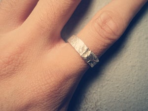 Image of Reticulated and Textured Silver Ring