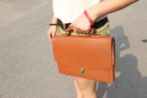 "Image of Handmade Leather Briefcase / Portfolio / Messenger / 14"" Laptop 13"" 15"" 17"" MacBook Case Bag (m05-3)"