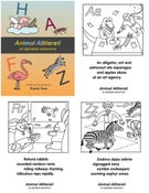 Image of Animal Alliterati - An Alphabet Adventure Coloring Book