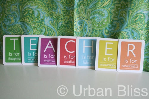Urban Bliss — Teacher Flash Card - Printable PDF **BEST ...