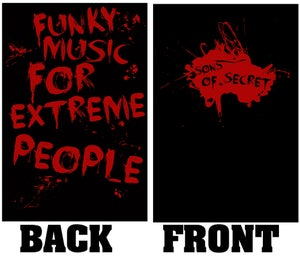 """Image of T-SHIRT """"Funky Music For Extreme People"""""""
