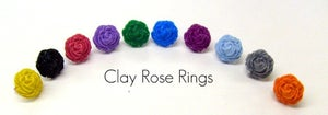 Image of Ruffled Rose Clay Ring