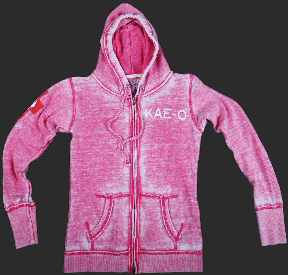 Image of Big Paw Women's Burnout Hoodie - Pink