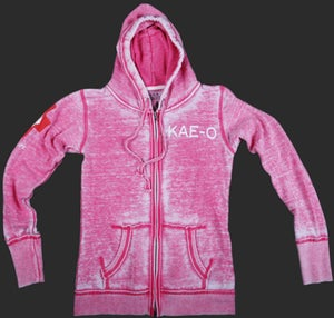 Big Paw Women's Burnout Hoodie - Pink