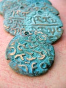 Image of Burmese Replica Coin in Verdigris