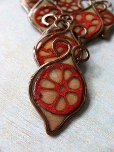 Image of Lotus Pod Leaf Pendant