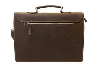 "Image of Vintage Handmade Crazy Horse Leather Briefcase 13"" 15"" 17"" MacBook 13"" 14"" 15"" 16"" Laptop Bag (n453)"