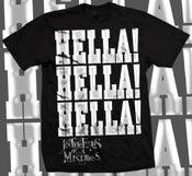 Image of Hella! Hella! Hella! silver foil t-shirt