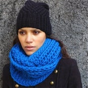 "Image of Snood ""Forget me not"", alpaga & laine"
