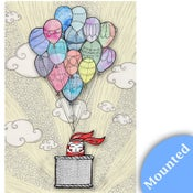 Image of Bunny in a Balloon - Print