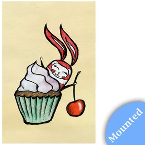 Image of Bunny Cupcake - Print