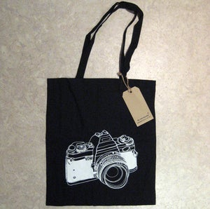 Image of 'The Photographer' organic cotton tote bag