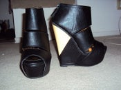 Image of Sole Boutique The Slash Platform Wedge in Black Size 6