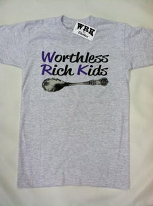 Image of The Worthless Rich Kids Tee - Heather (Holiday Special)